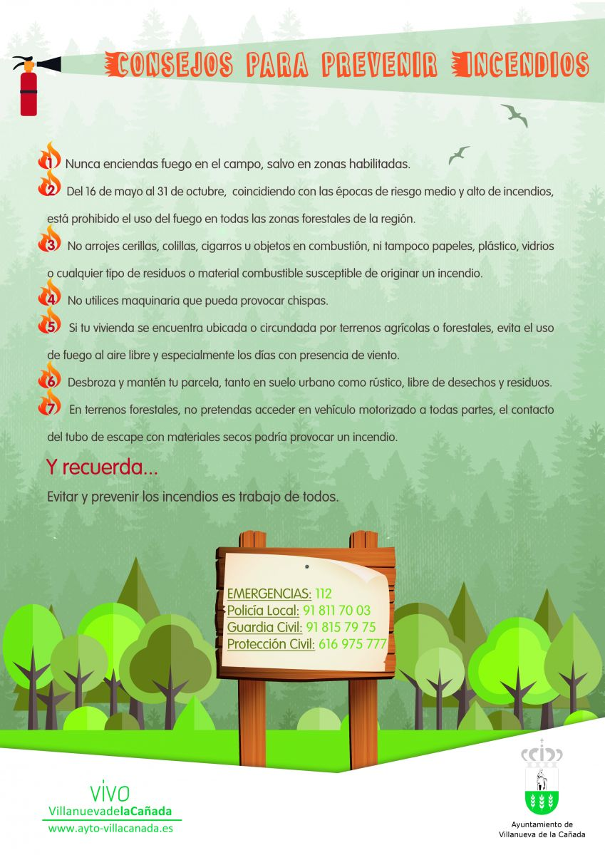 Plan municipal de prevenci n de incendios villanueva de for Materiales para un vivero forestal